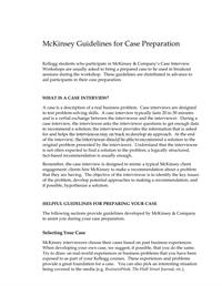 咨询入门系列(4):麦肯锡面试指南 McKinsey Guidelines for Case Preparation-HR猫猫