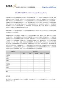 034定量战略计划矩阵(Quantitative Strategic Planning Matrix)